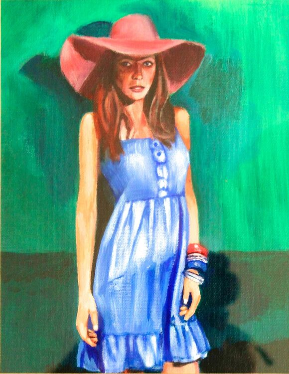 A 07 Girl with hat A4