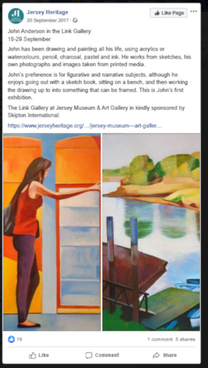 Jersey Heritage Facebook entry