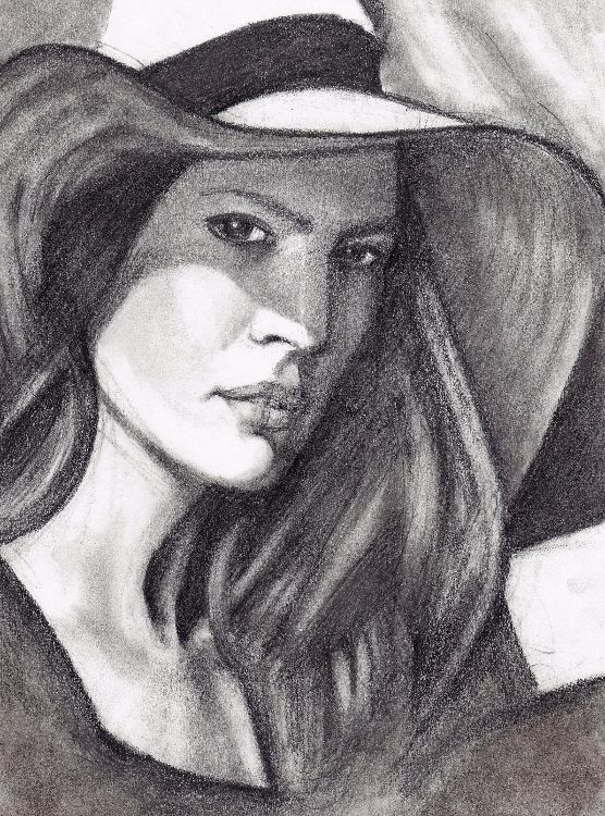 Lady with Hat A4