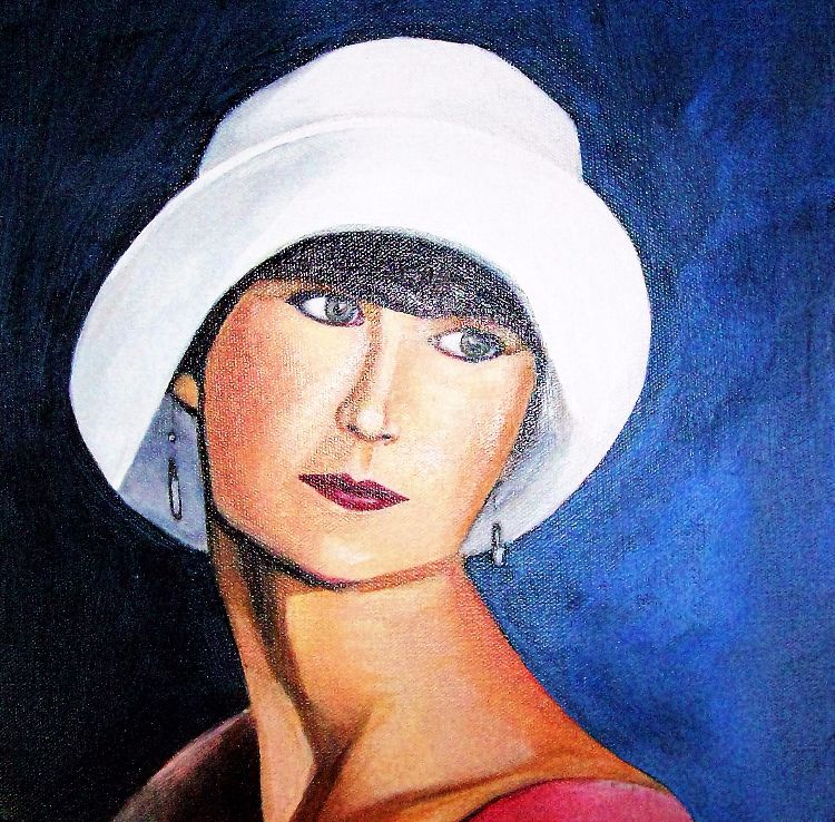 Lady with hat A3