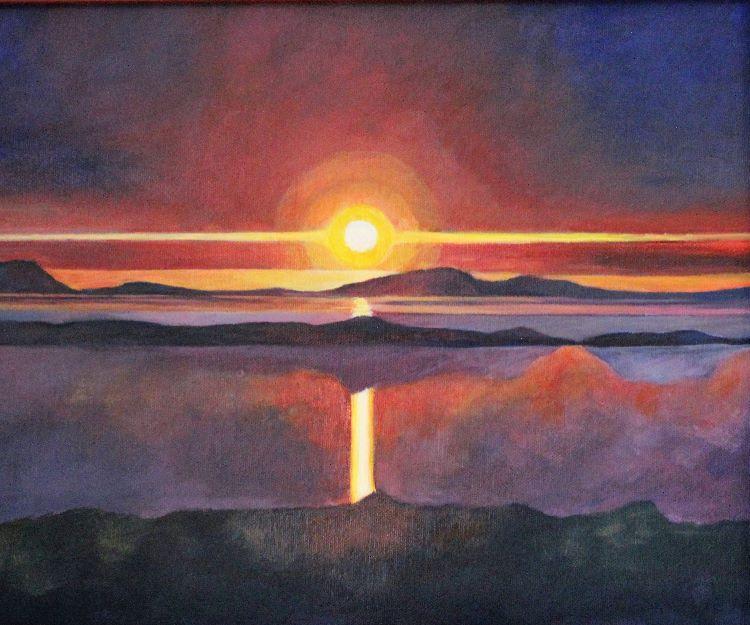 Sun sets A3