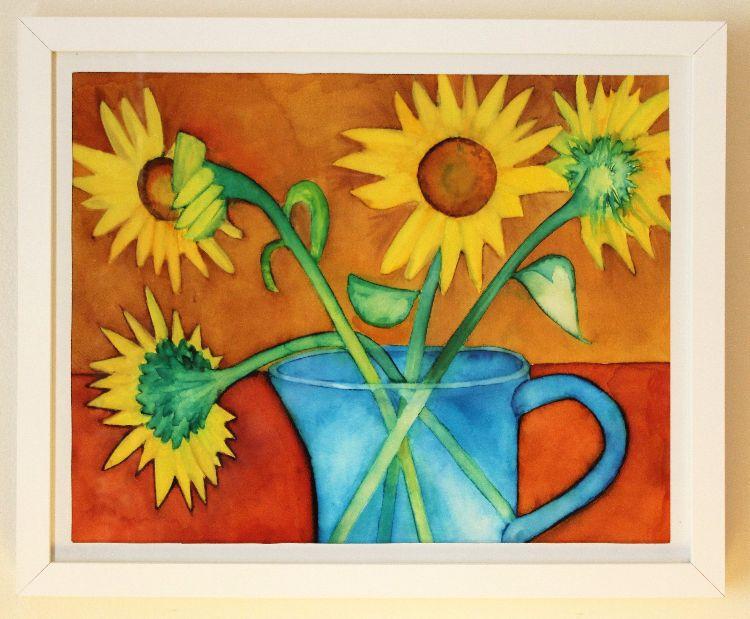 Sunflowers 2 A2 inks