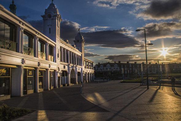 Spanish City at sunset