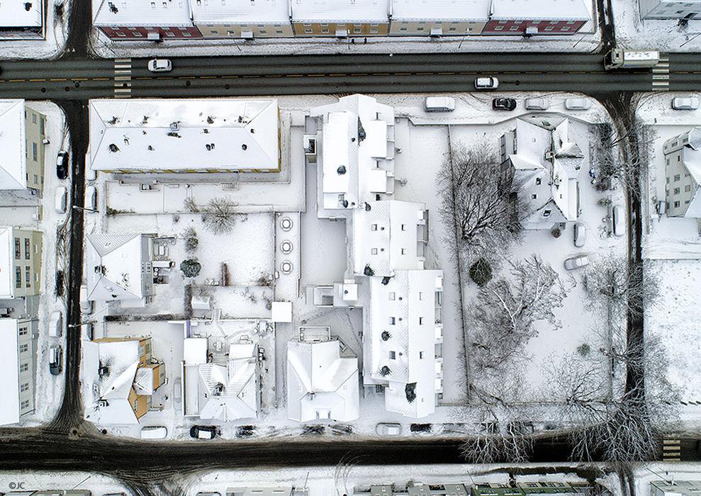 Drone på oppdrag vinter