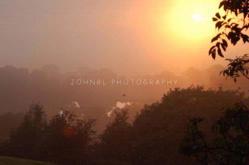 Sundown over Bollington