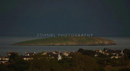 Storm over St Tuds Island