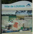 We are featured on a sign outside the Mairie