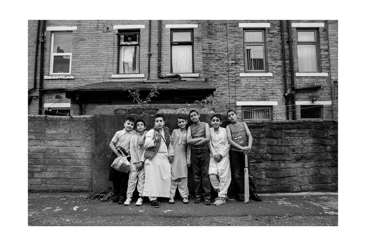 Asian Boys Outside House 18x12 Print