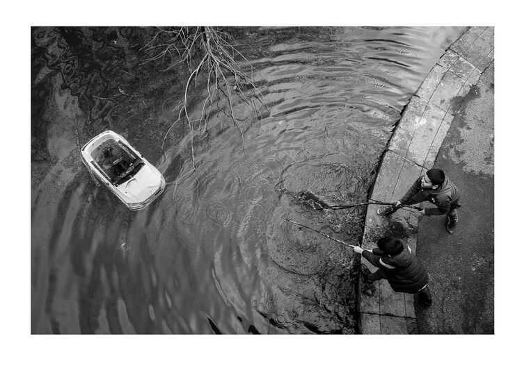 Car Fishing Boys A4 print