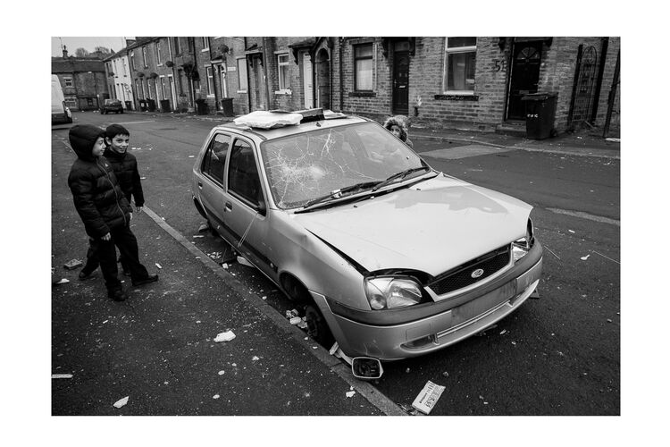 Youths and Stolen Car18x12 Print