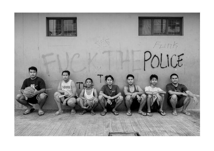 Manila Fuck The Police A4 print