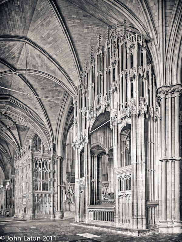 Cardinal Beaufort and Bishop Fox's Chantry Chapels, South Aisle Looking West