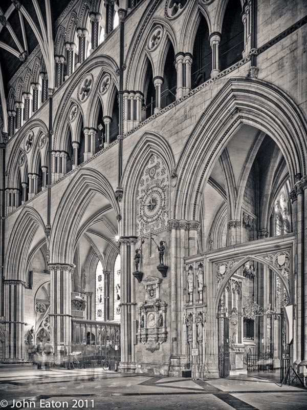 North Transept, East Wall and Clock