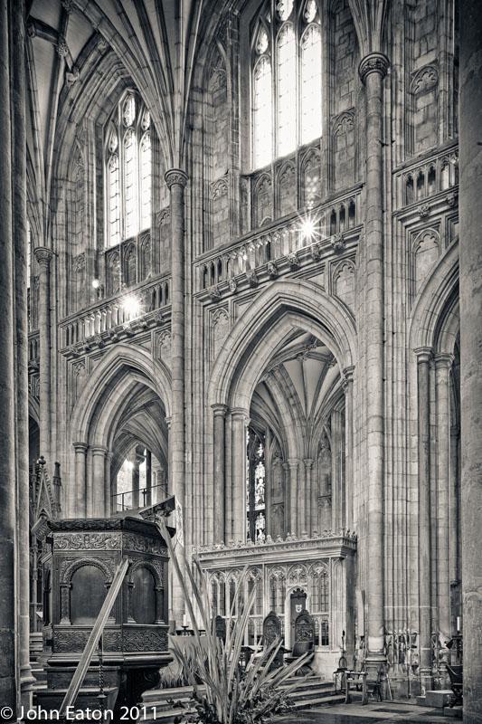 Nave, South Wall and Bishop Edington's Chantry Chapel