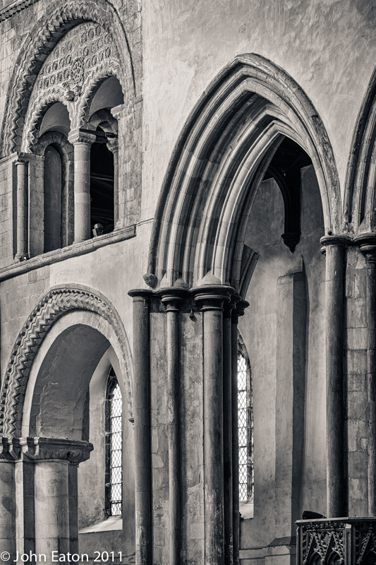 Nave, North Wall, Norman and Early English Gothic