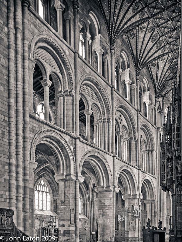 Presbytery North Side, Arcade, Triforium and Clerestory