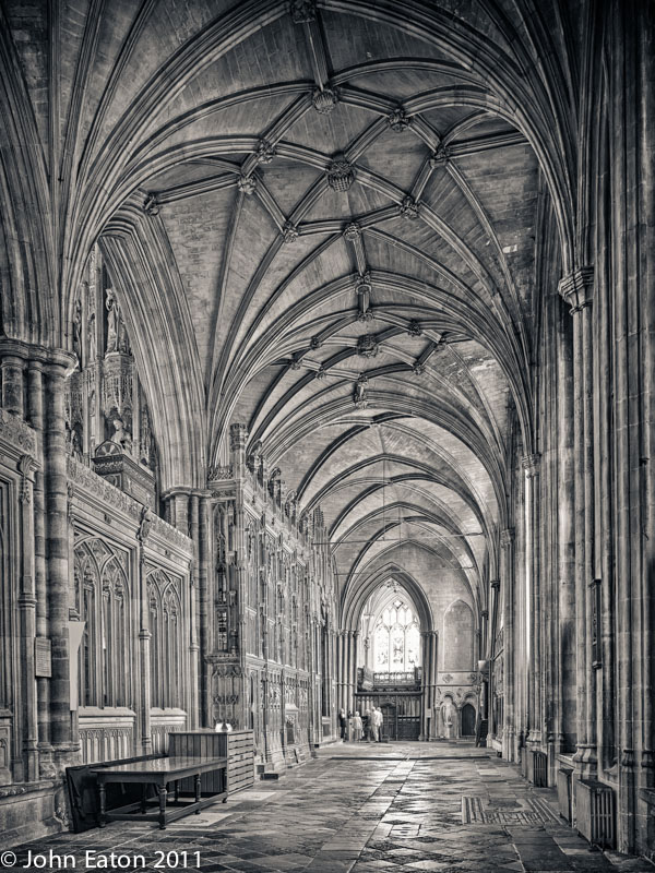 Quire, South Aisle Looking East
