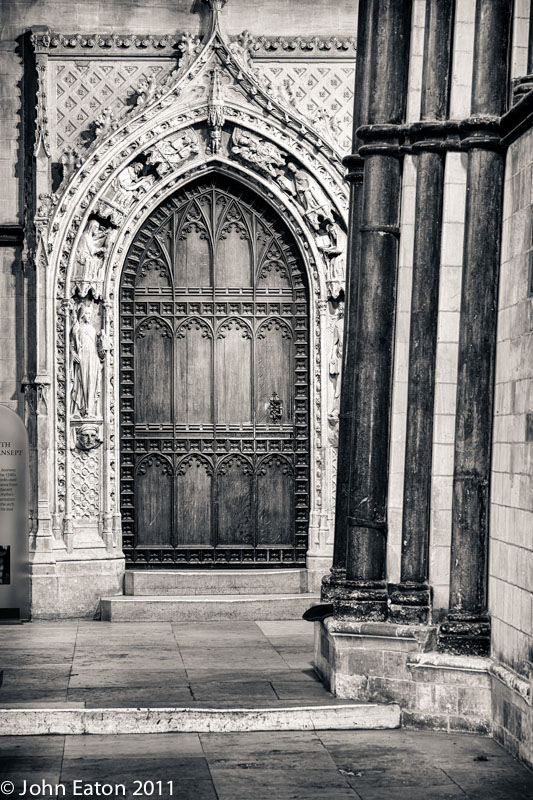 South-East Transept, Decorated Gothic Door