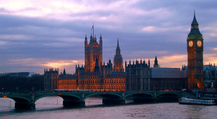 Palace of Westminster, at Dusk