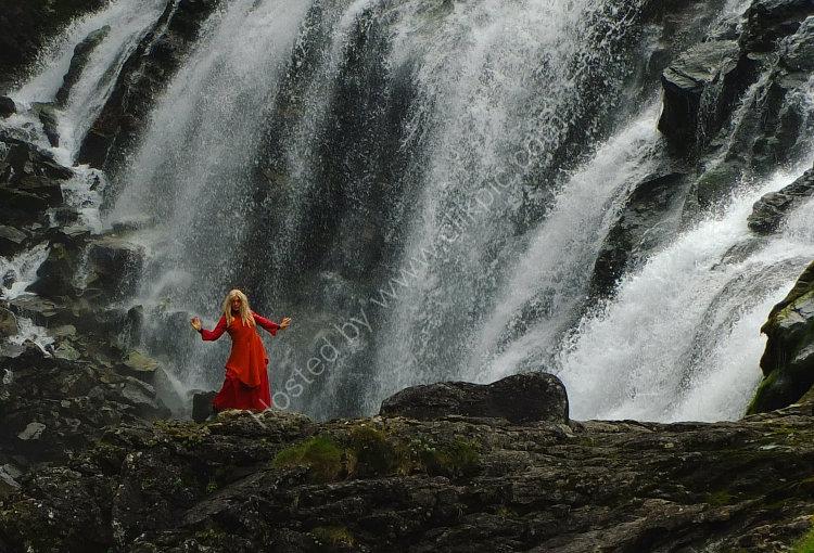 Kjosfossen Waterfall, Norway.