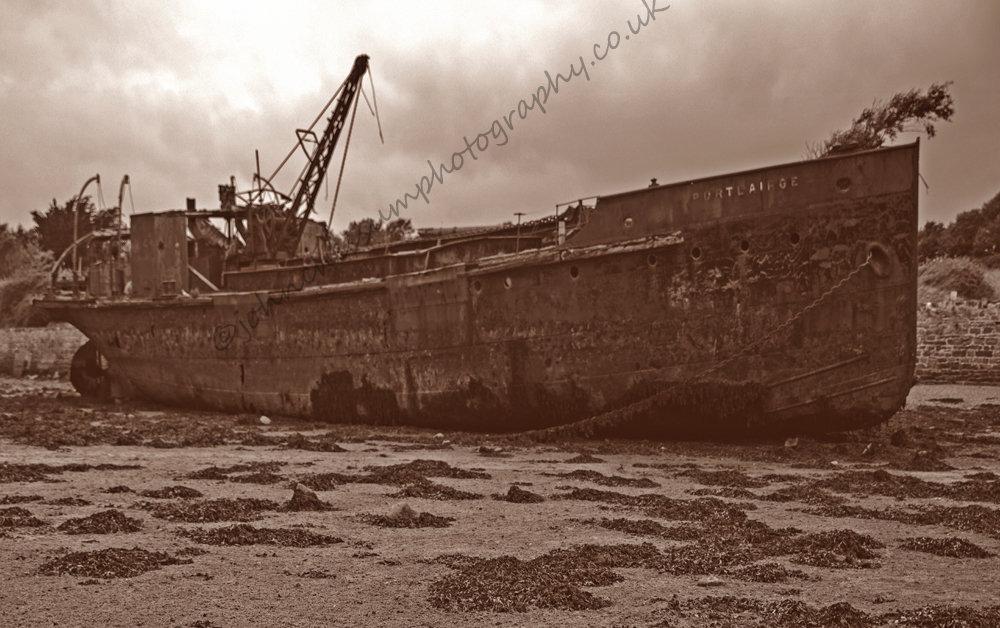 PortLairge steam dredger