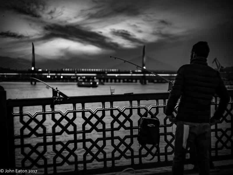 Night Fishing off Galata Bridge 1