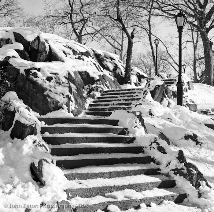 NY, Central Park Steps
