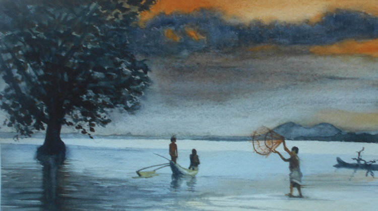 Fishing after the monsoon