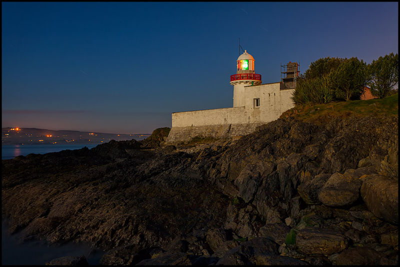 Ballynacourty Lighthouse by Moonlight