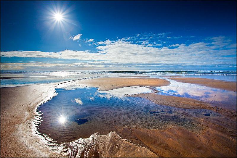 Sunlight on Ballybrannigan Strand