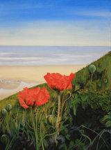 Poppies at Runswick Bay, Cleveland Way - Original Oil Painting - SOLD