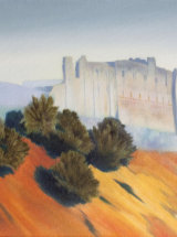 "Stillness, The Walls of Richmond Castle - Original Oil Painting - 18"" x 14 ¼"""
