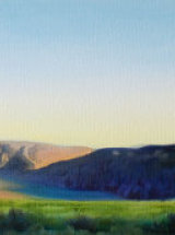 """Towards Steel Rigg, Hadrians Wall - Original Oil Painting - 25 ¾"""" x 9"""" - SOLD"""