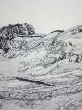 Towards Housesteads - Original Graphite Sketch - SOLD