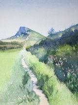 Spring Morning, Roseberry Topping - Original Watercolour - SOLD