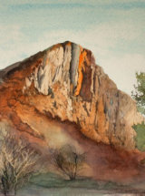"Cawfields Quarry, Hadrian's Wall - Original Watercolour - 19 ½"" x 12"""