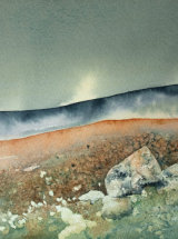"Across to Whernside - Original Watercolour - 9"" x 8 ½"" - SOLD"