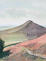 """Pathway from the Moors, Roseberry Topping - Original Watercolour - 12"""" x 12"""" - SOLD"""