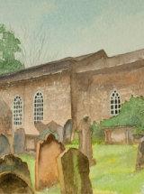 "All Saints Church, Great Ayton - Original Watercolour - 11 ½"" x 5 ½"" - SOLD"