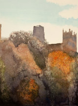 "Autumn Glory - Durham Riverbanks - Watercolour - 12"" x 12"" - SOLD"