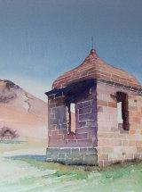 "Summerhouse - Roseberry Topping - Watercolour - 15 ¾"" x 11 ½"""