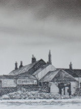 "Graphite drawing for 'The Ship Inn' - Graphite on Canson Paper - 21"" x 6 ¾"""