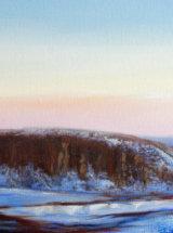 Midwinter, Peel Crag, Hadrian's Wall - Oil on Canvas