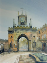 The Castle Gate, Bishop Auckland - Watercolour
