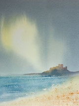Summer Glow, Bamburgh - Watercolour - SOLD