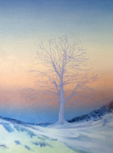Winters Light, Sycamore Gap - Oil on Canvas