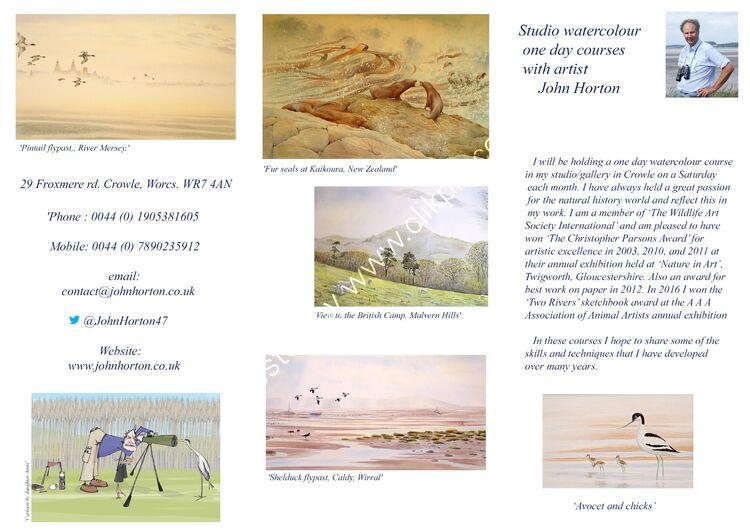 John Horton Courses Leaflet 21 to 22