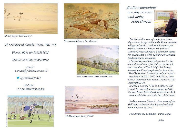 John Horton courses leaflet 2019 copy