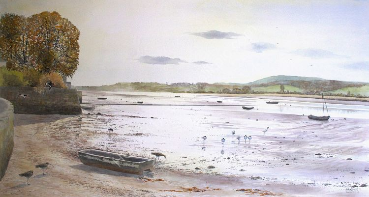 Waders at Topsham, Exe estuary