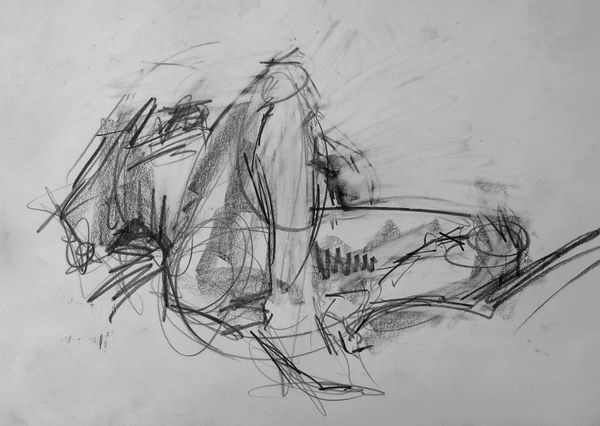 Life drawing, graphite, male